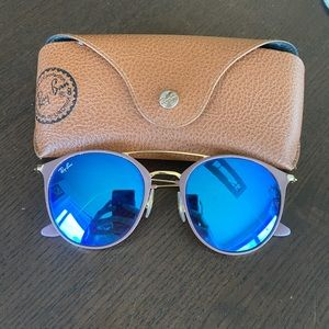 Rayban Sunglasses with Blue Mirror Lens
